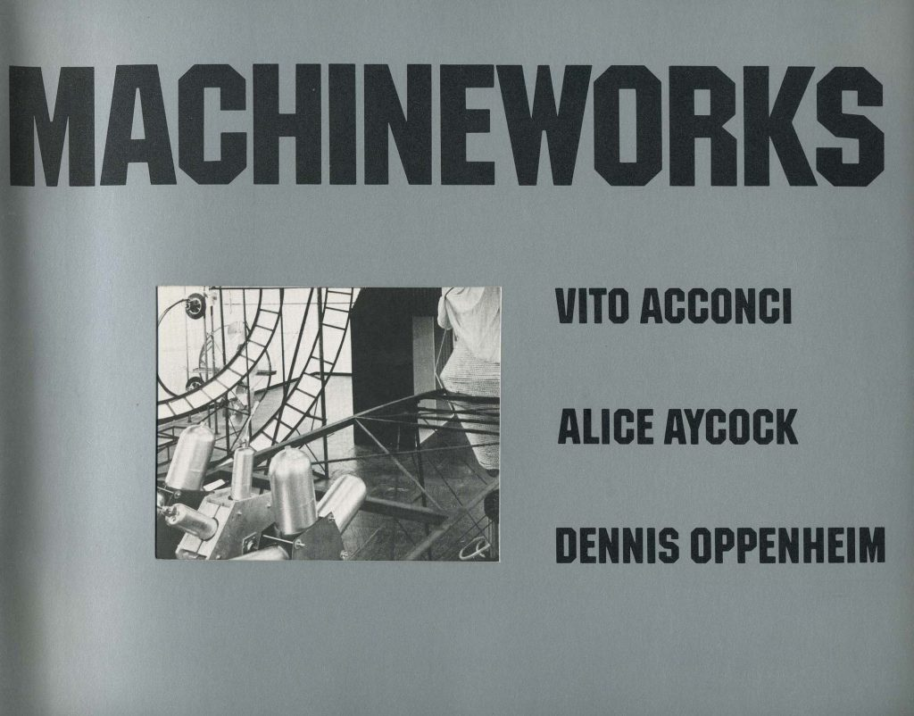 Machineworks: Vito Acconci, Alice Aycock, Dennis Oppenheim product image