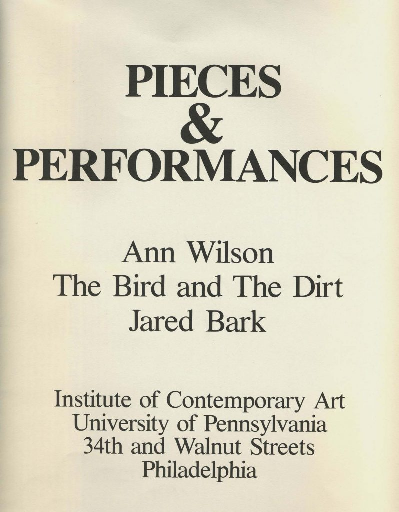 Pieces & Performances: Ann Wilson, The Bird and The Dirt, Jared Bark product image