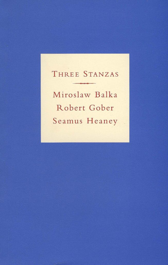 Three Stanzas: Miroslava Balka, Robert Gover, Seamus Heaney product image