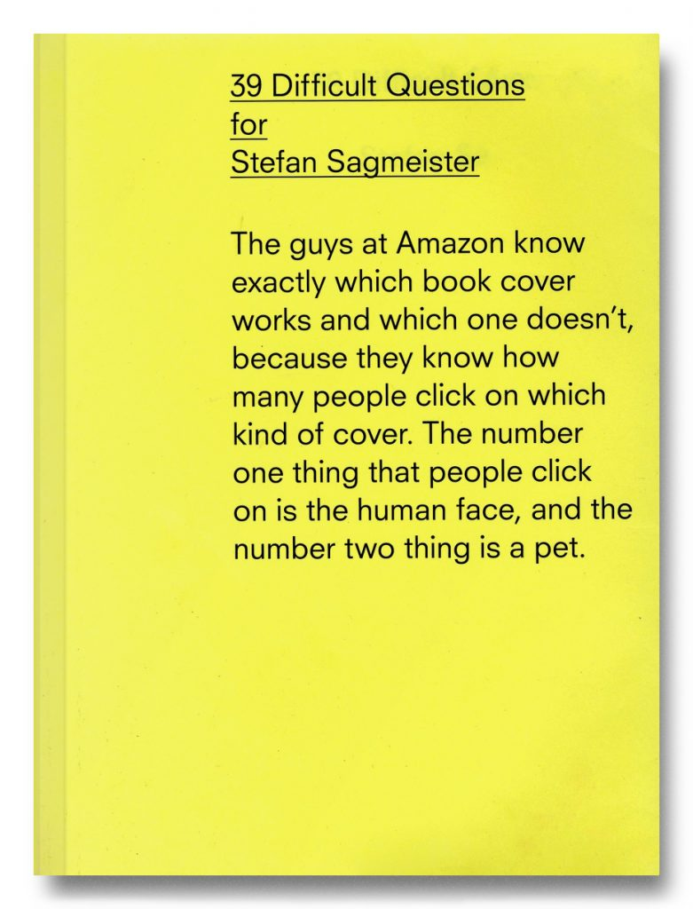 39 Difficult Questions for Stefan Sagmeister product image