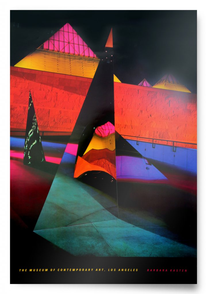 Vintage poster by Barbara Kasten: Architectural Site 10 [1986, limited edition, signed] product image