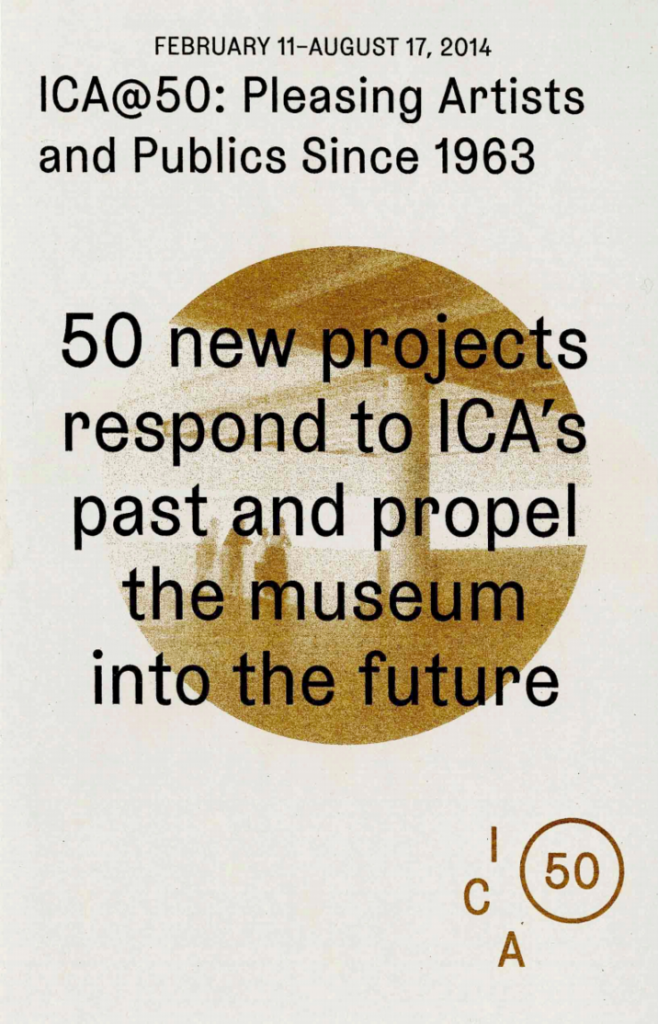 ICA@50: Pleasing Artists and Publics Since 1963 product image