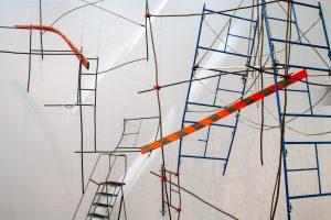 Installation view of Michelle Lopez: Ballast & Barricades